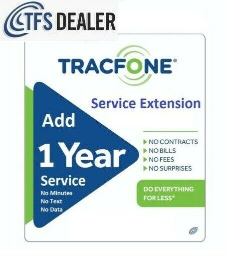 TracFone Service Extension 1 Year 365 Days For All Phones. 2563 Sold 🔥🔥🔥🔥 $69.99