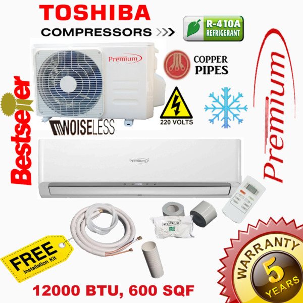 Premium Mini Split 12000 BTU 16.9 SEER System Ductless AC ONLY COLD 220V