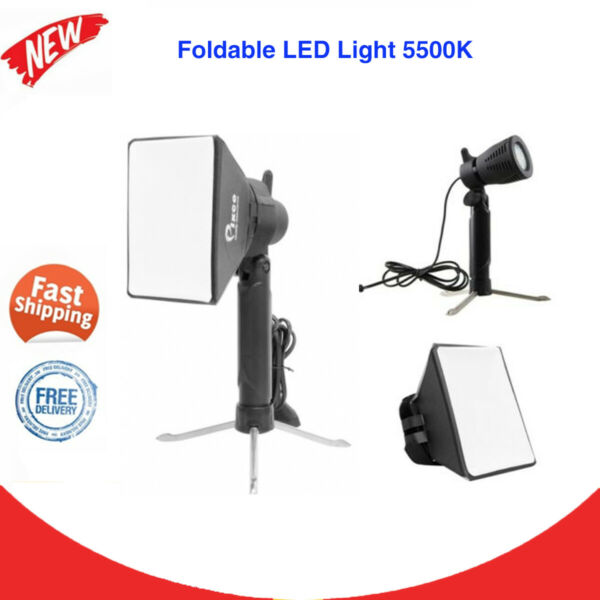 Mini Portable LED Light Kit 5500K Lamp W Tripod Stand Softbox Photography New