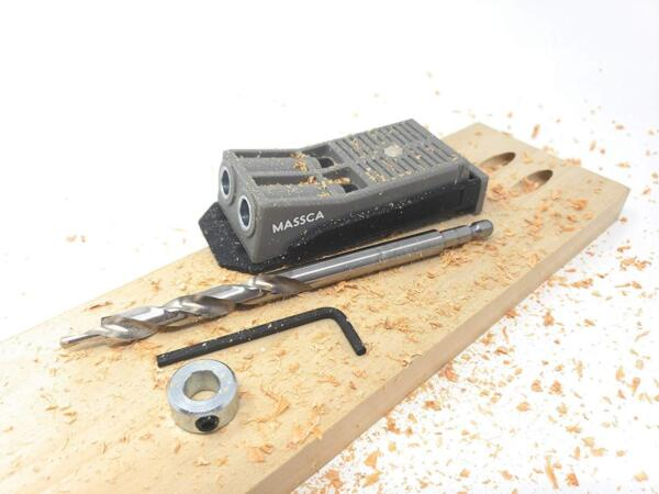 Pocket Hole Jig Set System. Drill BitStop Collar and Hex Key Included.