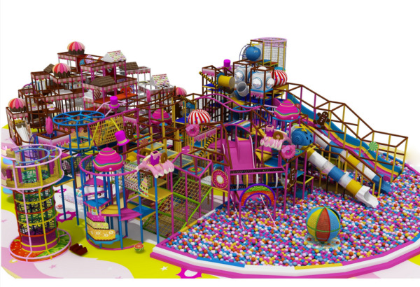 3500 sqft Commercial Indoor Playground Themed Interactive Soft Play We Finance