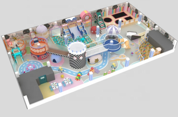 5000 sqft Commercial Indoor Playground Themed Interactive Soft Play We Finance