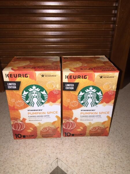 Starbucks PUMPKIN SPICE K-Cups 20 2 Boxes of 10 Pods Limited Edition Keurig