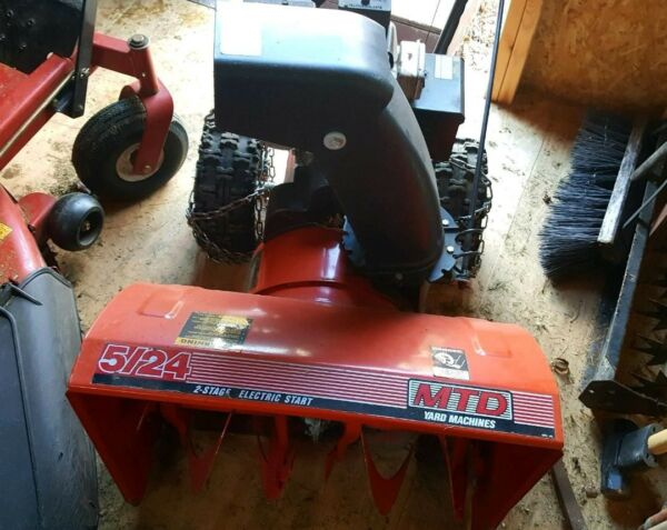 used 2 stage snow blower MTD electric start 5 24