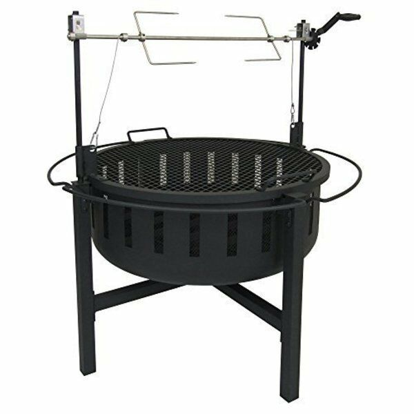 Landmann Fire Rock Fire Pit and Grill with Rotisserie