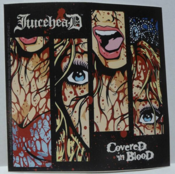 Juicehead licensed sticker covered in blood osaka popstar jerry only
