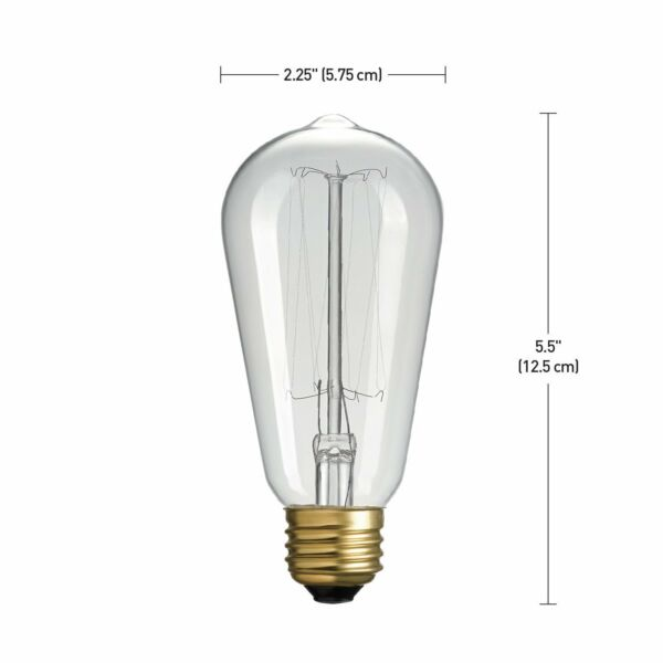 Globe Electric 40 watt Vintage Edison S60 Squirrel Cage Incandescent E26 $7.45