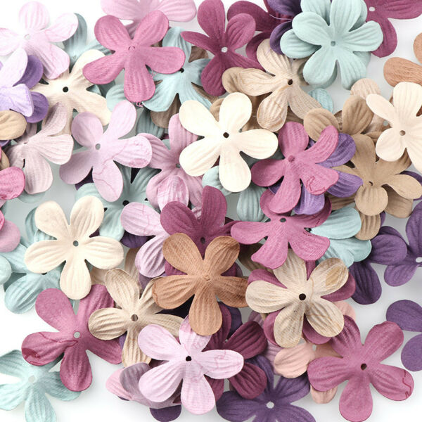 30Pcs Small Artificial Flowers Head Exquisite Handmade Wedding Floral Decoration