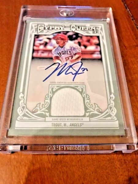 Mike Trout 2013 Topps Gypsy Queen Relic Auto 1825 MVP Hot SP Rare Autograph