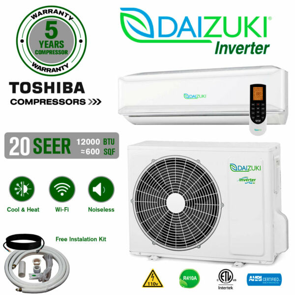 12000 BTU Air Conditioner Mini Split 20 SEER INVERTER AC Ductless Heat Pump 110V $599.99
