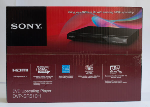 Sony DVP SR510H Upscaling HDMI 1080p Full HD DVD Player with Remote Control