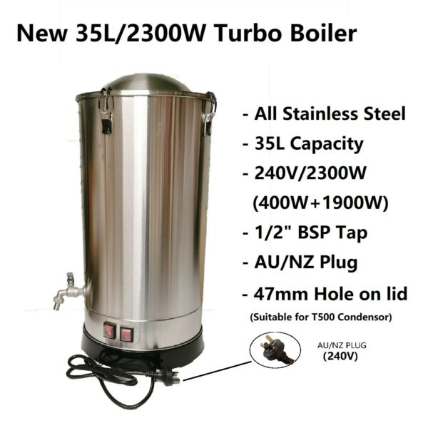 New 35L High Qality Stainless Steel 240V 2300W Turbo Boiler for Brew Water Urn AU $169.00