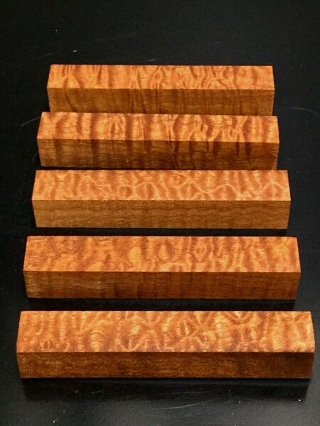 5)  Pomelle Sapele Wood Turning Pen Blanks 78