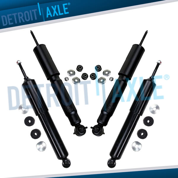Front Rear Shock Absorbers for 1992 2005 2006 2007 Ford E 250 Econoline 2WD