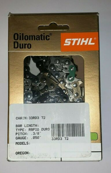 33RD3 72 STIHL 3 8 20 in NEW CARBIDE CHAINSAW CHAIN SAW .050 72 20 INCH BLADE $58.53