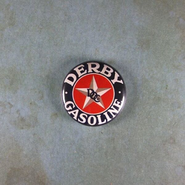 Vintage Style Advertising Tin Sign Fridge Magnet 1quot; Derby Gasoline Gas Star $1.95