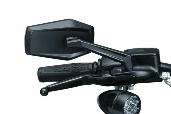 Kuryakyn 5919 Black Hex Right Left Mirrors Multi Fit Direct Harley Replacement $139.22