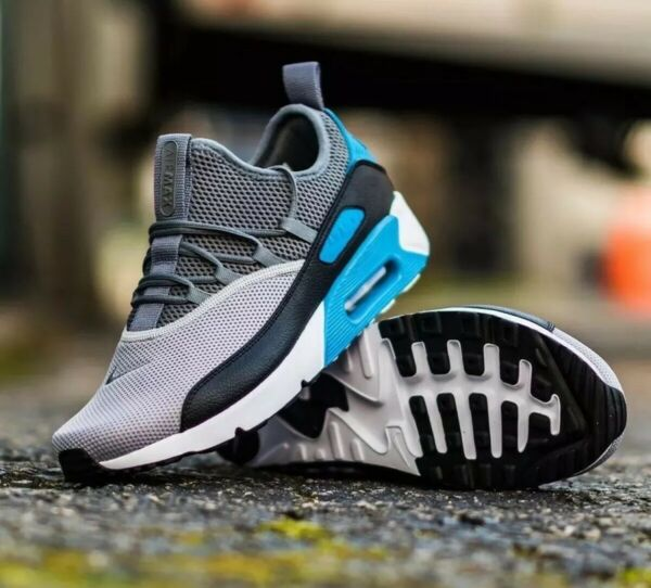 NIKE AIR MAX 90 EZ LASER BLUE BALCK WOLF GREY AO1745004 MEN'S RUNNING SHOES