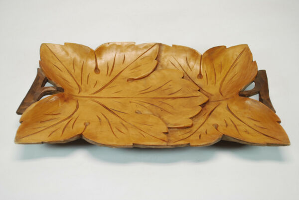 Vintage Leaf Carved Candy Dish or Tray from the Black Forest Germany.