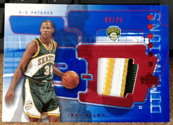 2003 04 UD Triple Dimensions Ray Allen 3D Patch #9 25 $55.99