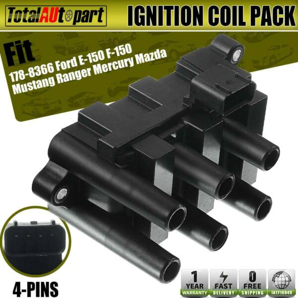 Ignition Coil Pack for Ford E-150 F-150 Mustang Ranger Mercury Mazda 178-8366