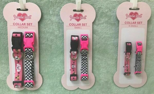 Adjustable Dog Collar Set (2 collars) by Smoochie Pooch