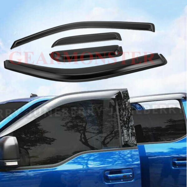For Ford F150 Extended Cab 2004-2014 Slim Style Acrylic Window Visors 4Pcs