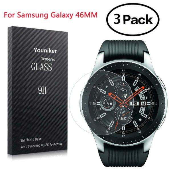 Samsung Galaxy 46MM Watch Screen Protector Tempered Glass Anti-Scratch Bubble UK