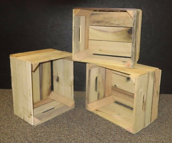 Amish Wooden Apple Crates- 12 bushel (unfinished) (Set of 3)