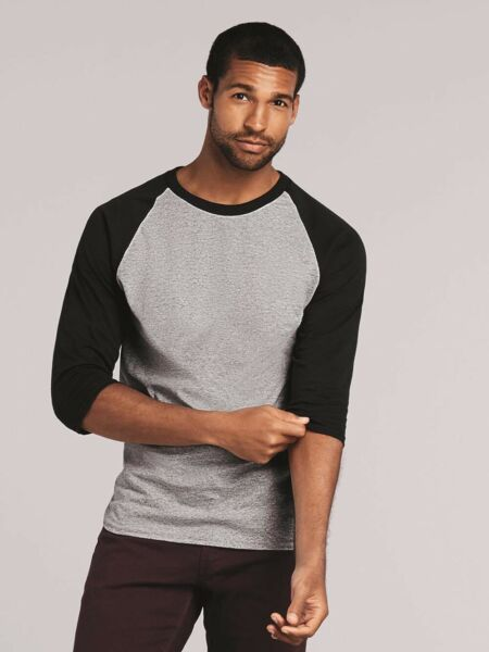 Gildan - Heavy Cotton Three-Quarter Raglan Sleeve Baseball T-Shirt - 5700