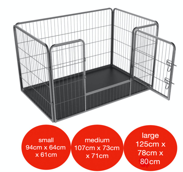 4pc Heavy Duty Puppy Play Pen Dog Crate Whelping Box Rabbit Enclosure Dog Cage GBP 64.95