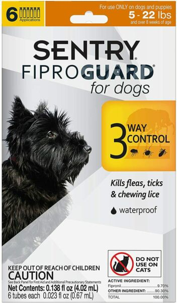 Dog Flea And Tick Lice Treatment Control Medicine For S Dogs Puppies 4 to 22 Lbs