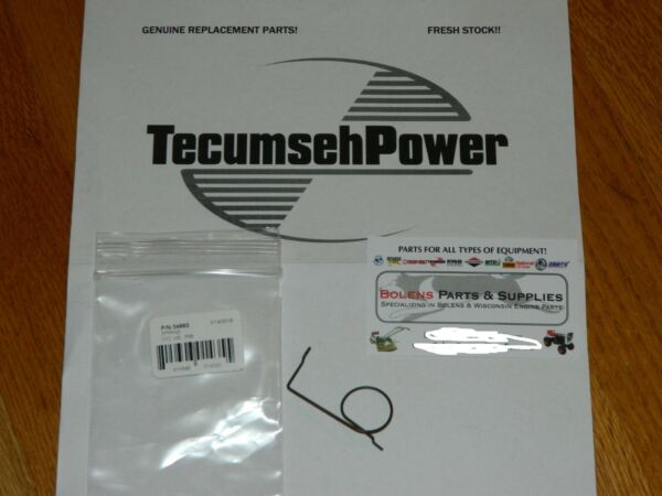 Tecumseh engine 34663 speed control spring GENUINE PART hmsk100 Snow King series