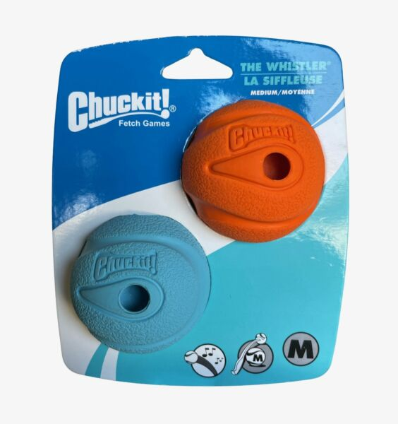 Canine Hardware Chuckit! WHISTLER Medium Fetch 2 BALL PACK $12.95