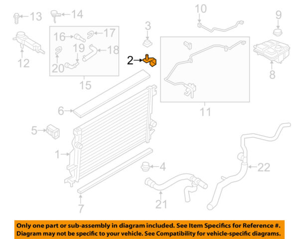 FORD OEM 13-18 C-Max 2.0L-L4-Radiator Upper Bracket DM5Z8A193A