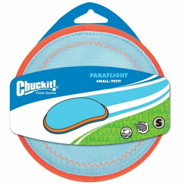 ChuckIt! Interactive Paraflight Floats in Water Fly Toss Dog Toy SMALL $13.95