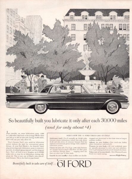 Vintage automobile Print car ad Ford Galaxie so beautiful Electric House Heat 61