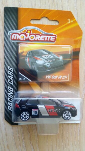 MAJORETTE RACING VW VOLKSWAGEN GOLF VII GTI LONG CARD 1 64 APROX. *NEW*
