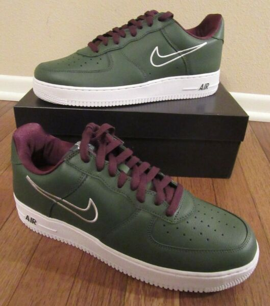 Nike Air Force 1 Low Retro Hong Kong Size 11 Deep Forest White 845053 300 NIB