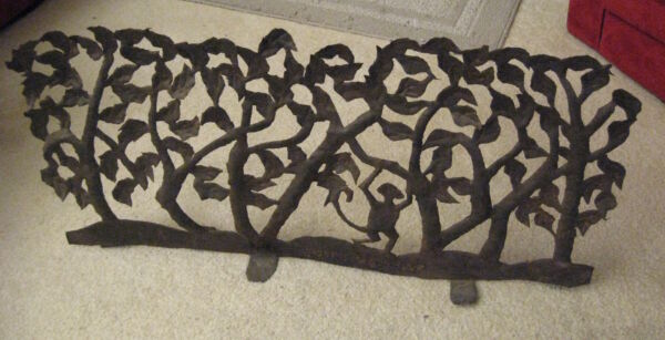 Astonishing Outsider ArtHaitian Steel(?) Antique Thin Metal (Fireplace Grate?)