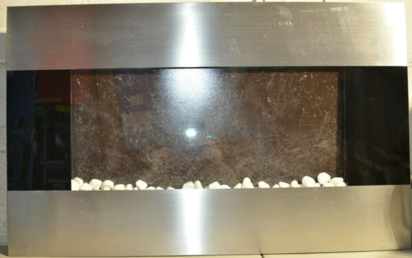 Stainless Electric Fireplace 36 x 22