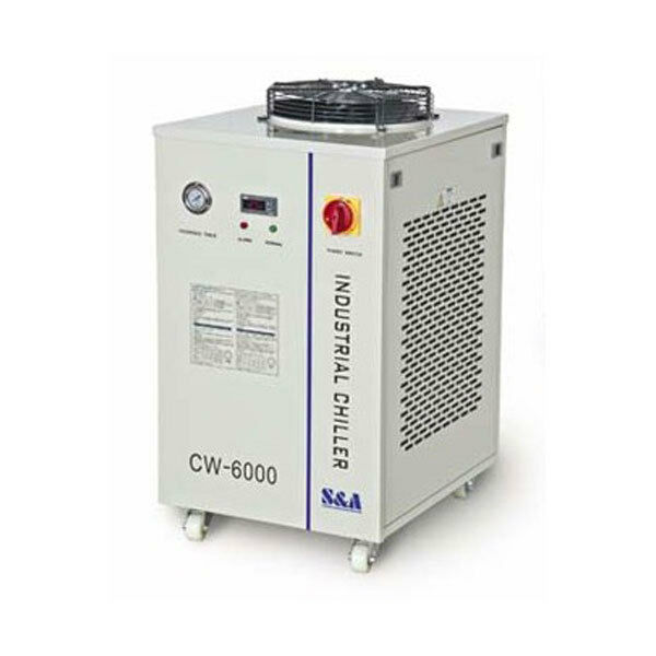 220V CW-6000AH Industrial Water Chiller for 3 x 100W  4 x 80W CO2 Lazer Tubes