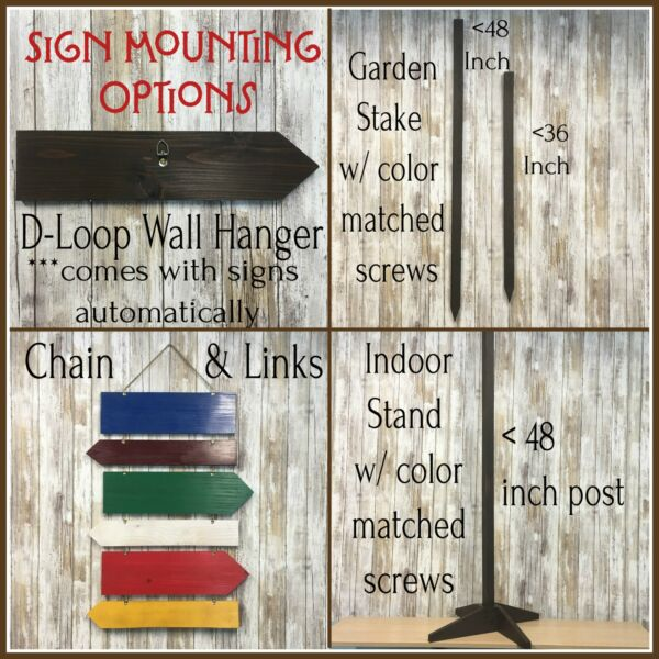 Sign Mounting Options Choose Garden Stake Chain and Links or Indoor Stand $10.00