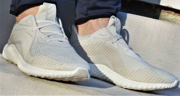 ADIDAS ALPHABOUNCE HPC AMS M - New Men's Running Off White Shoes Sneakers