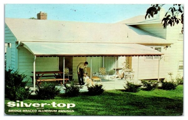 1960s Silver Top Aluminum Awnings White Marsh MD Postcard