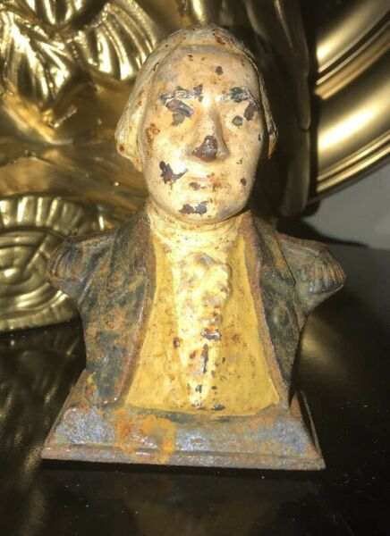Antique George Washington Cast Iron Bust