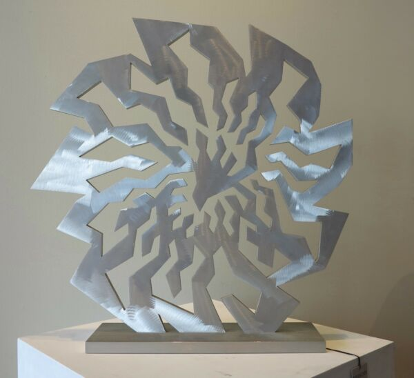 Jack Youngerman 1990 artist signed stainless steel sculpture ed. 3