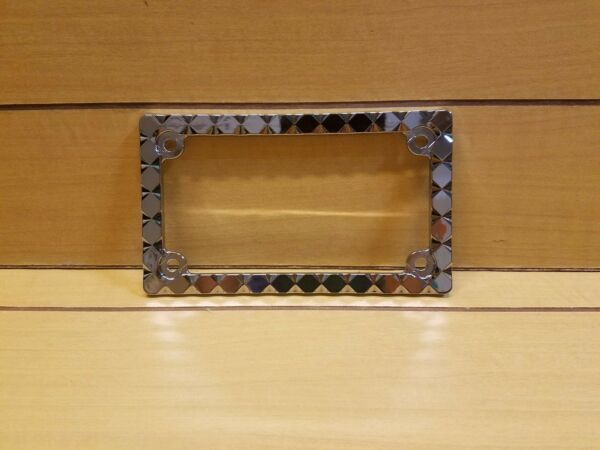 DIAMOND CHROME LICENSE PLATE FRAME FOR MOTORCYCLE $25.00