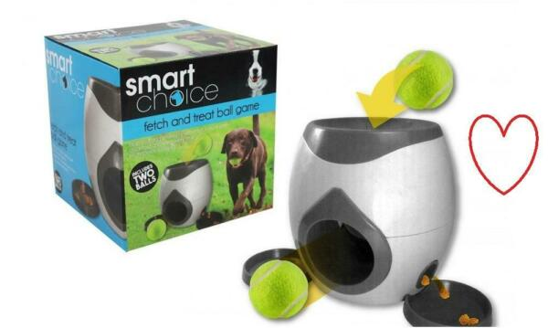 Interactive Fetch And Treat Game Automatic Dog Feeder Tennis Balls Training