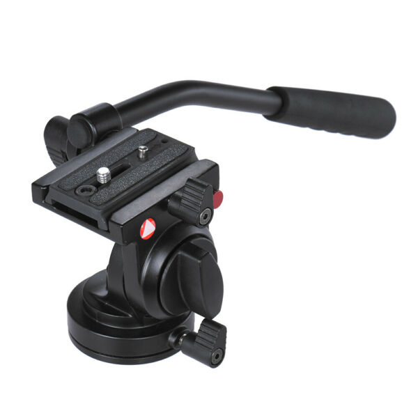 KINGJOY Flexible Aluminum DSLR Camera Tripod Head Fluid Video for Canon Nikon